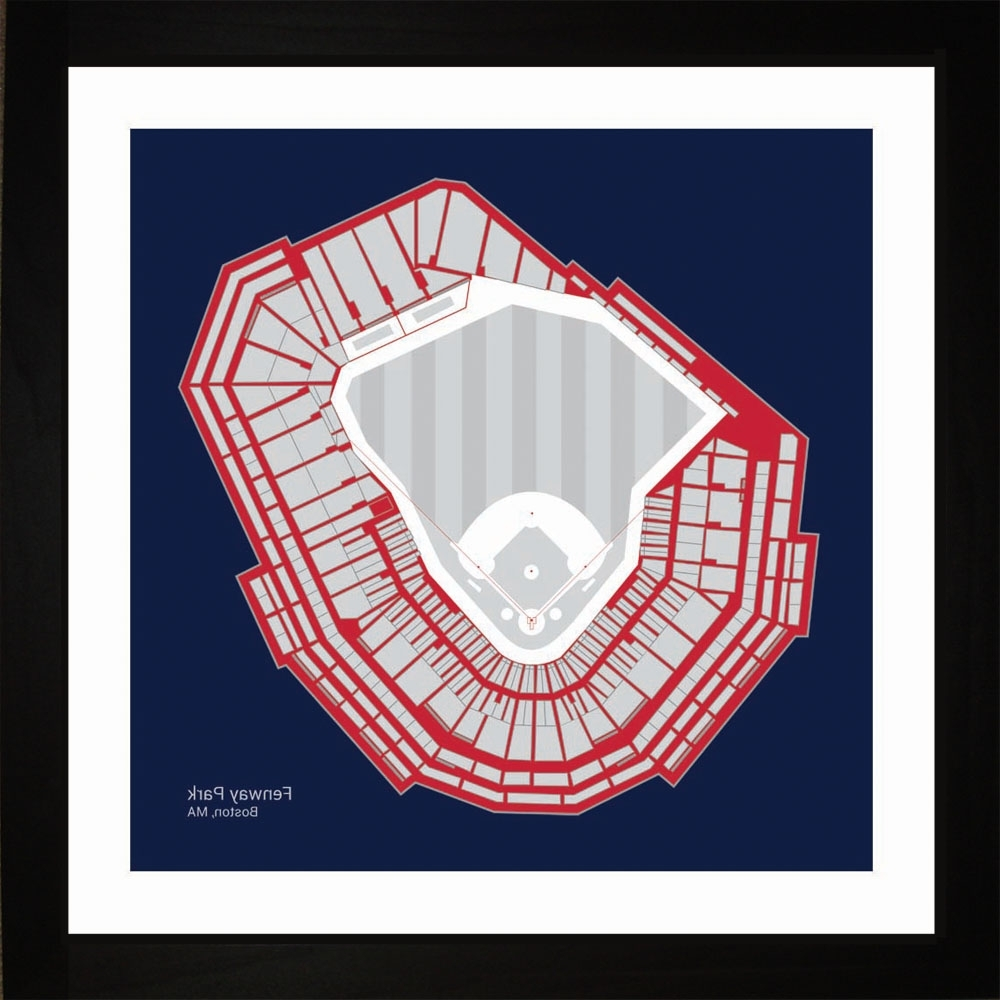 2018 Boston Red Sox Fenway Park Stadium Print Art Gift Wall Art For Boston Red Sox Wall Art (View 3 of 15)