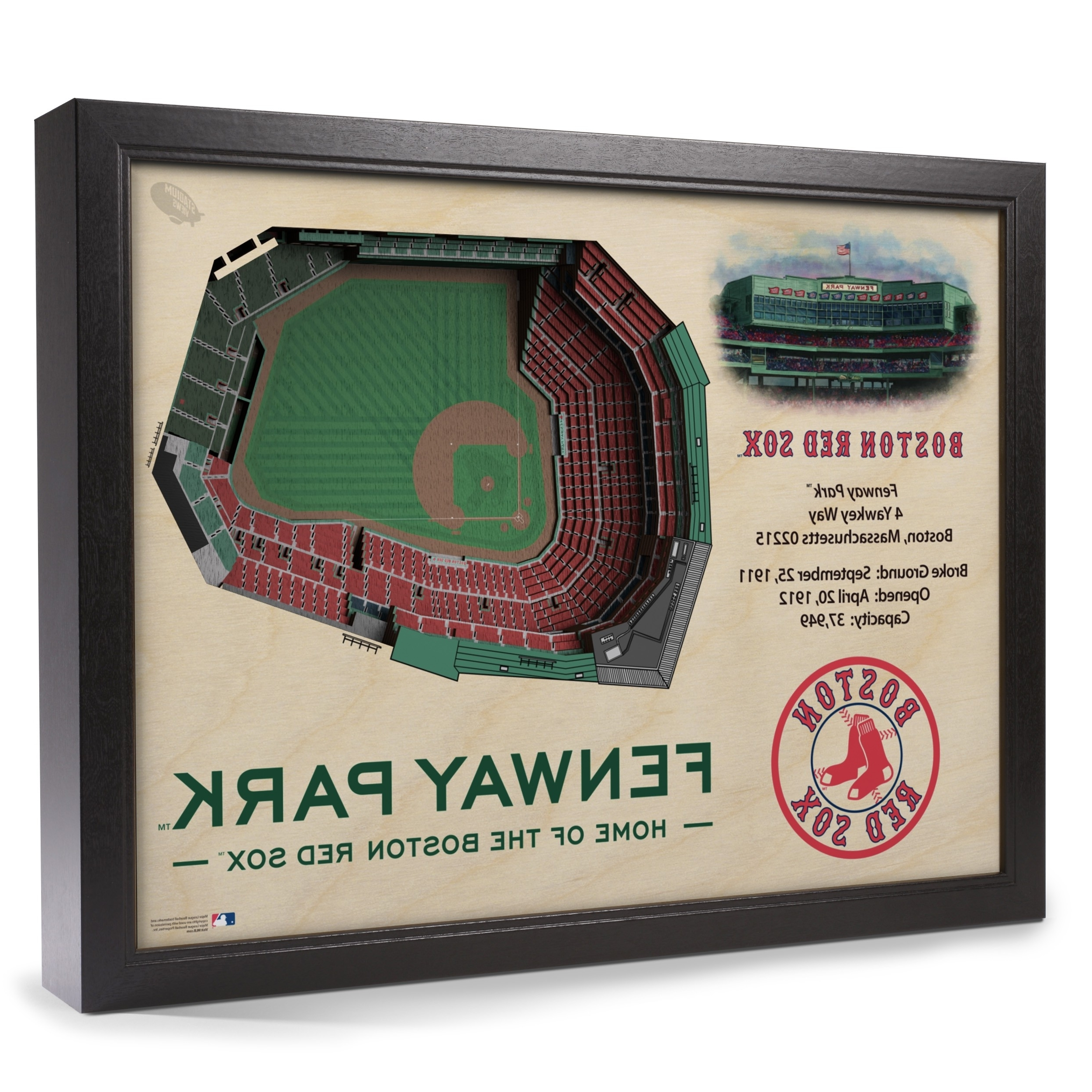 2018 Boston Red Sox Stadiumview Wall Art – Fenway Park 3 D Reproduction Regarding Red Sox Wall Art (View 2 of 15)