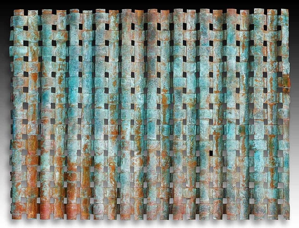 2018 Copper Outdoor Wall Art Regarding Outdoor Metal Wall Art Weaving > Outdoor Copper Wall Art > Woven Metal (View 2 of 15)