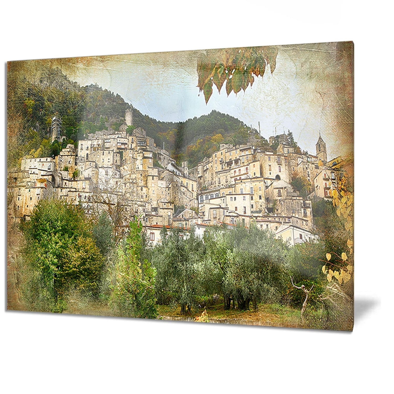 2018 Designart 'old Italian Villages' Landscape Photography Metal Wall Intended For Old Italian Wall Art (View 1 of 15)