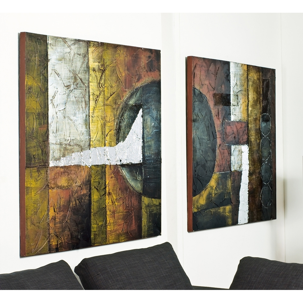 2018 Dwell Abstract Wall Art With Abstract Art Set Of Two – Dwell (Gallery 1 of 15)