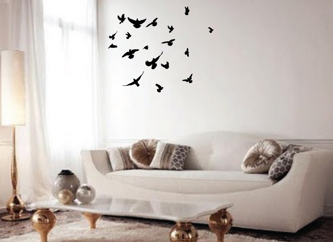 2018 Flock Of Birds Wall Art With Flock Of Birds Wall Decal #1169 – Innovativestencils (View 2 of 15)