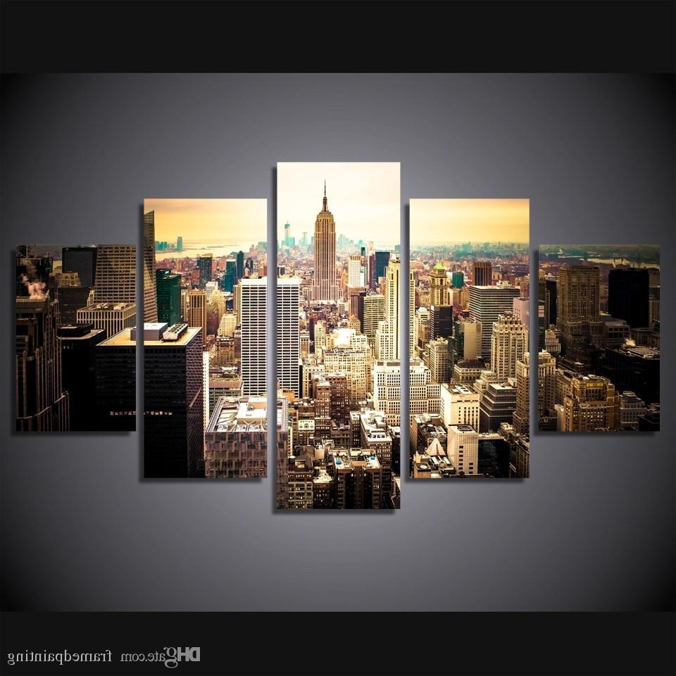 2018 Framed Hd Printed New York City Picture Wall Art Canvas Print Throughout Widely Used New York City Canvas Wall Art (View 2 of 15)