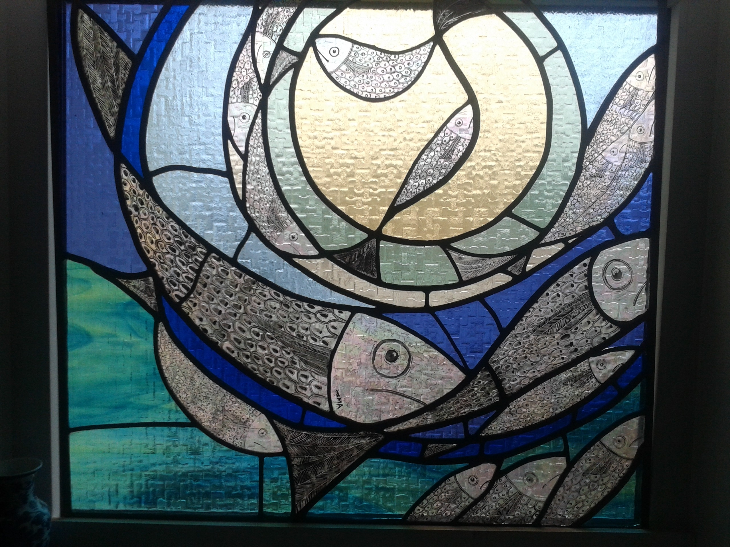 2018 Fused Glass Fish Wall Art Within Stained Glass Window (View 12 of 15)