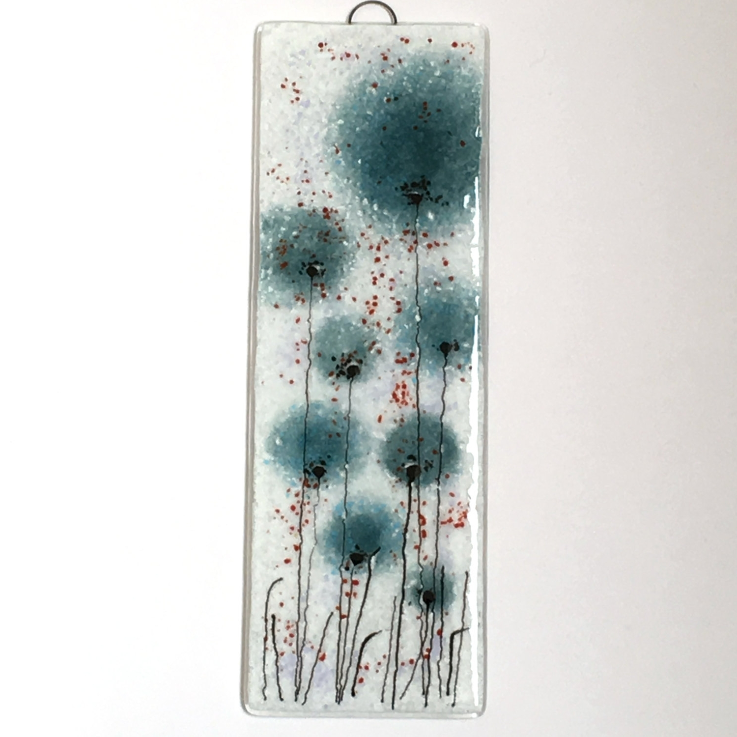 2018 Fused Glass Wall Art Hanging Within Aquamarine Flowers Fused Glass Wall Art – Fused Glass Picture (View 5 of 15)