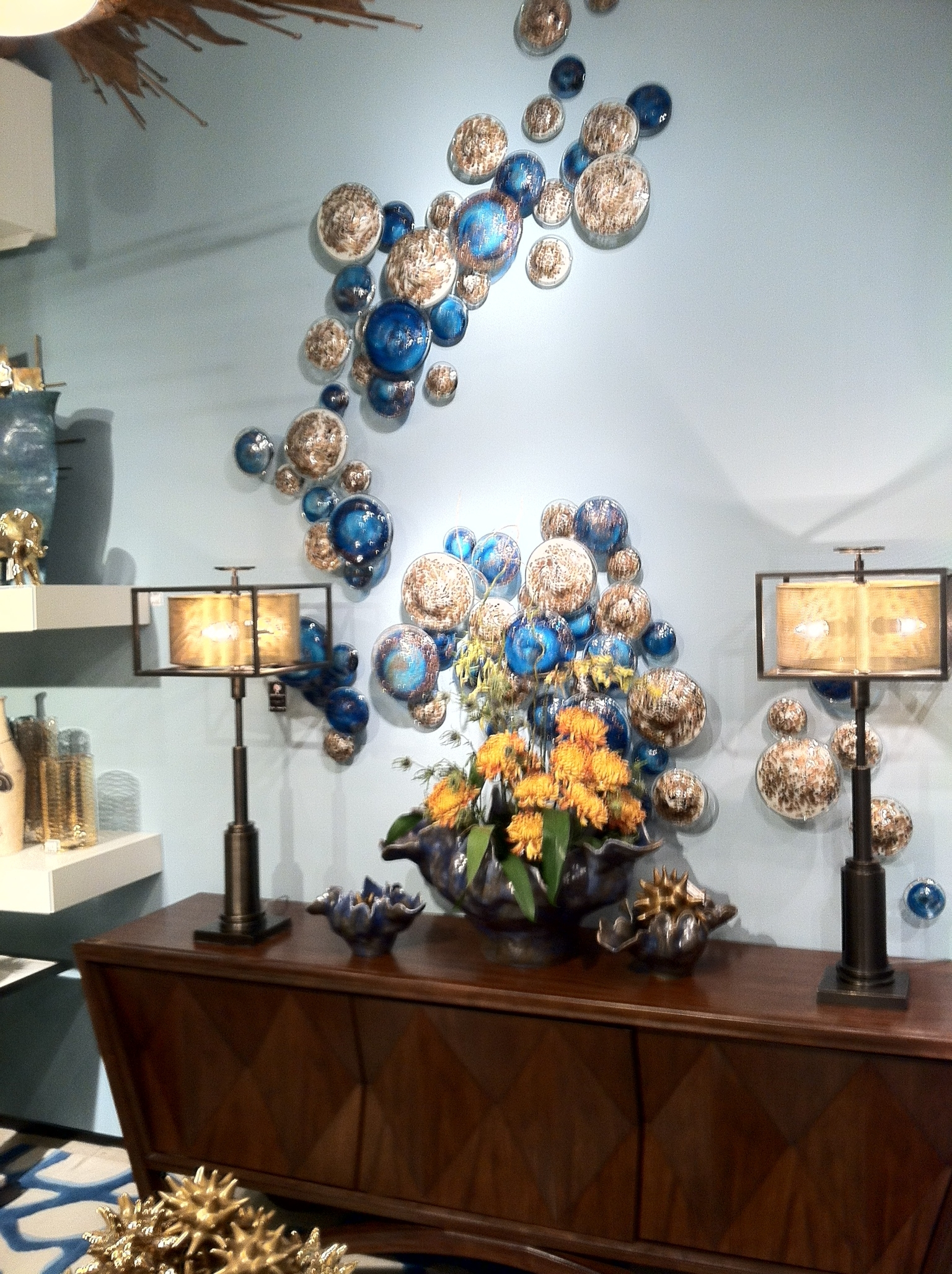 2018 Glass Wall Artworks Within A Fanciful Wall Display Featuring Blown Glass Mushrooms From (View 2 of 15)