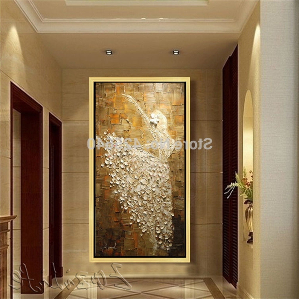 2018 Large Abstract Wall Art Regarding Oil Painting On Canvas Ballet Dancer Wall Pictures Large Abstract (View 1 of 15)