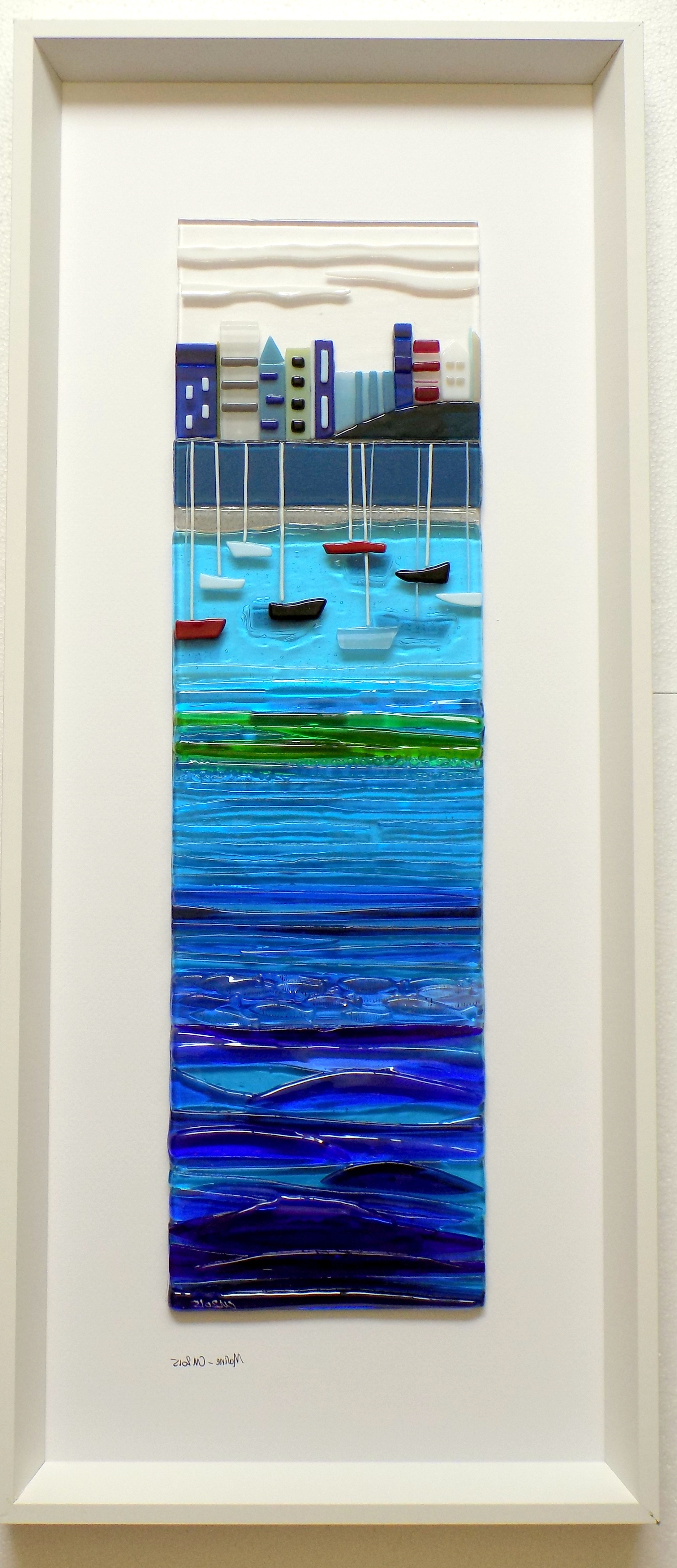 2018 Large Fused Glass Wall Art Within Large Framed Panels – Inlight – Contemporary Fused Glass (View 1 of 15)