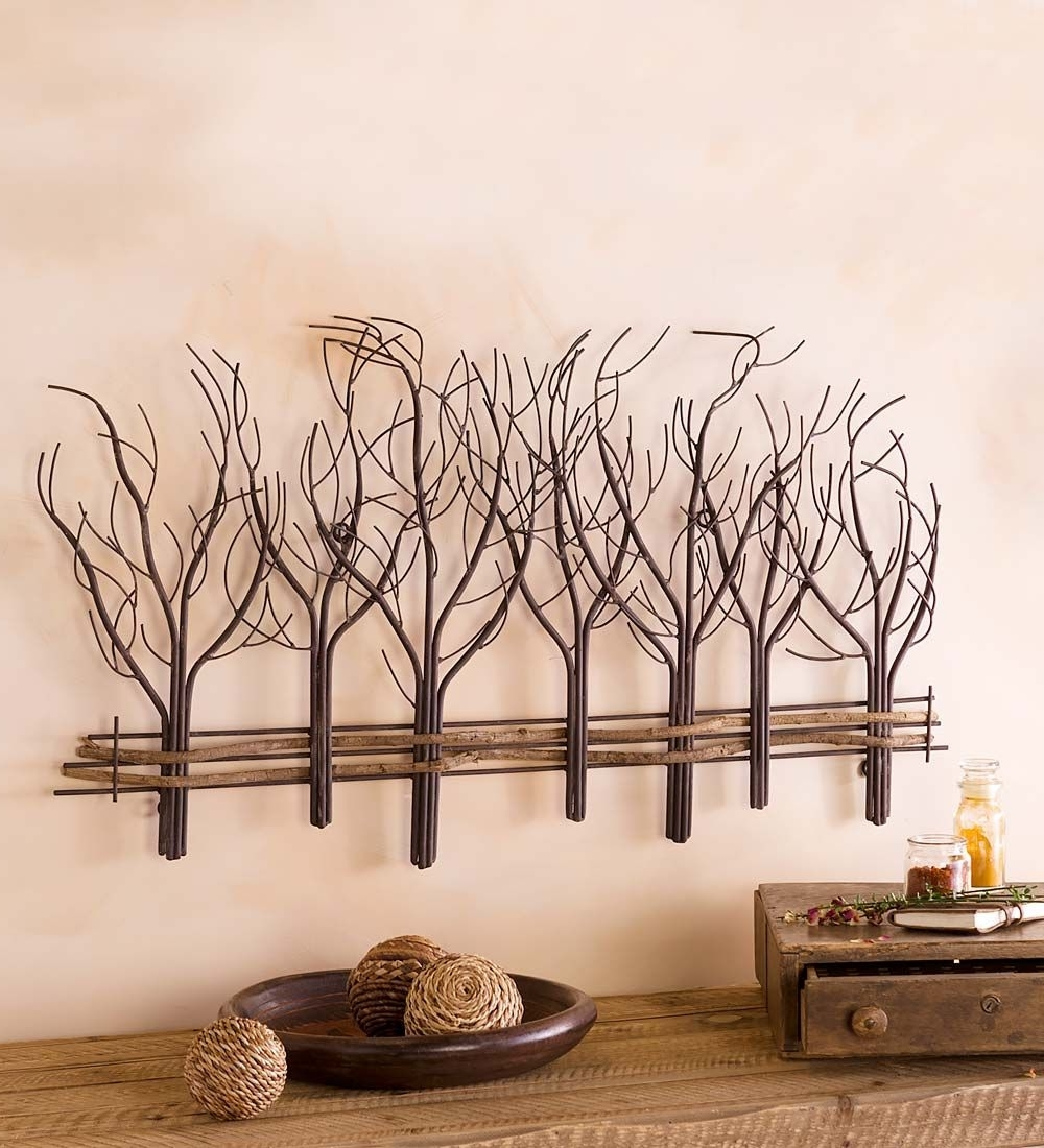 2018 Metal And Natural Vine Tree Wall Art (View 1 of 15)