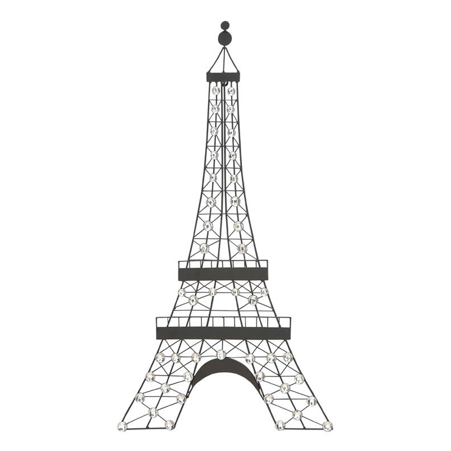 2018 Metal Eiffel Tower Wall Art Within Shop Woodland Imports 18 In W X 32 In H Frameless Metal Eiffel (View 1 of 15)