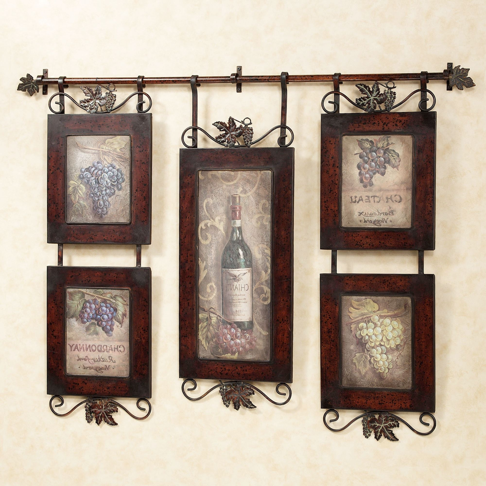 2018 Metal Grape Wall Art With Regard To Emilion Wine Wall Art (View 1 of 15)