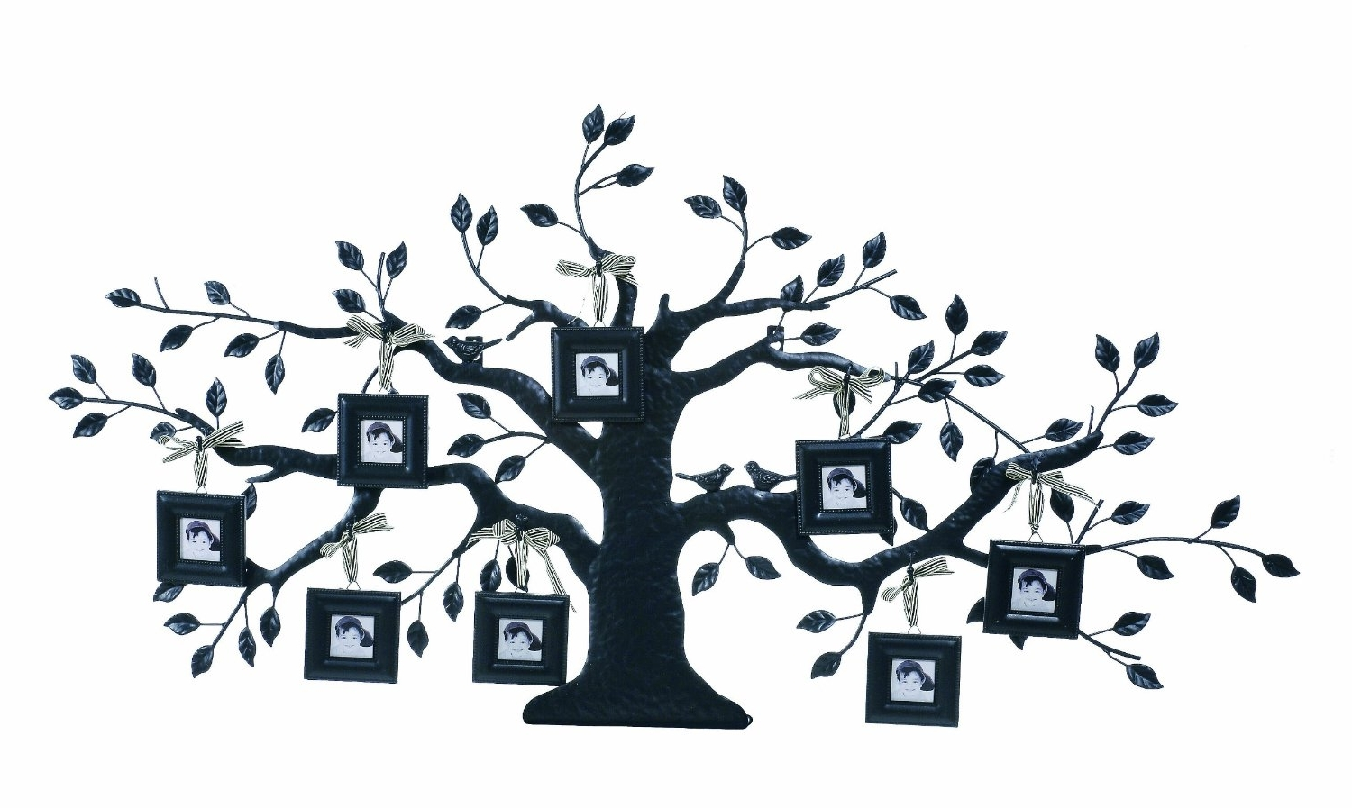 2018 Metal Tree Wall Art Sculpture In Family Tree Wall Decor Metal (View 9 of 15)
