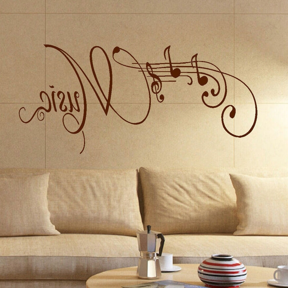 Beautiful Musical Notes Wall Decor Pictures - The Wall Art ...
