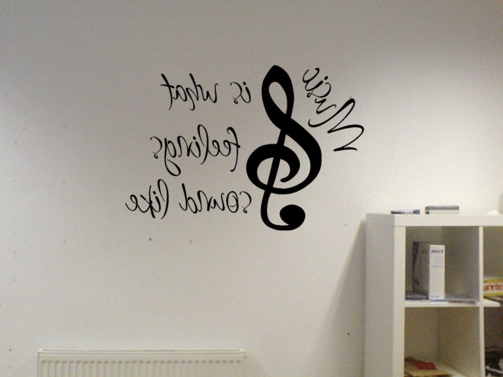 2018 Music Note Wall Art Decor With Regard To Note Wall Decals – Http://amazon – New Design Grey And Brown (View 5 of 15)