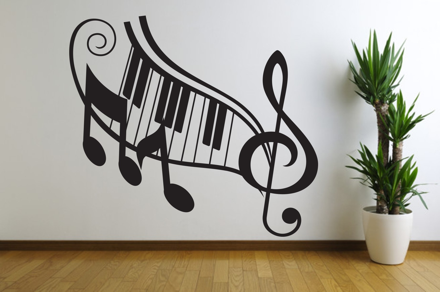 Featured Photo of Music Notes Wall Art Decals