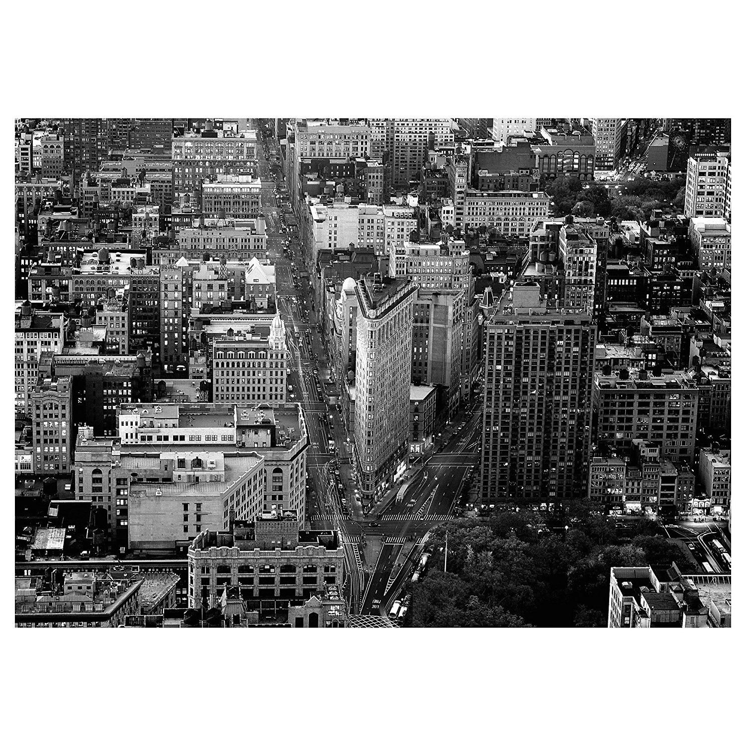 2018 New York Skyline Canvas Black And White Wall Art Within Amazon: Ikea Premiär Picture, Flatiron Building, New York (View 11 of 15)