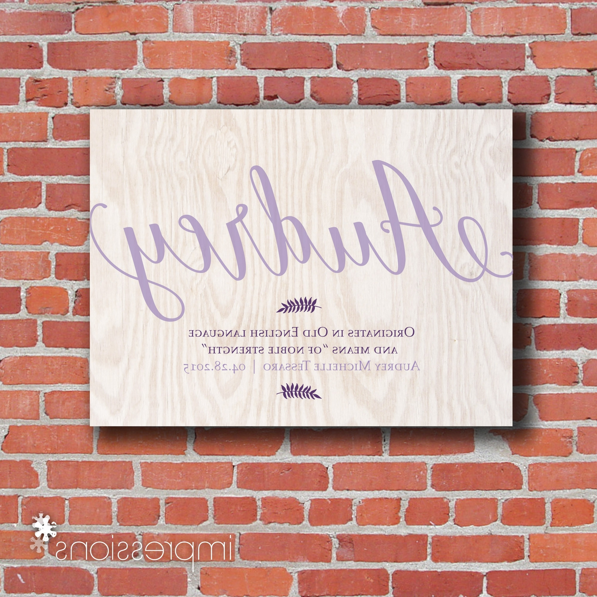 2018 Personalized Baby Wall Art Inside Personalized Baby Name Wall Decor • Walls Decor (View 1 of 15)