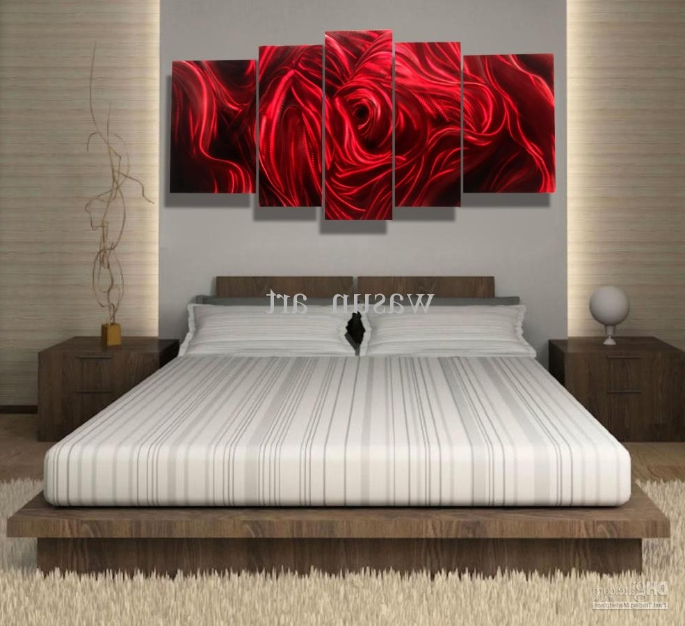 2018 Red Rose Modern Contemporary Abstract Painting,metal Wall Art Regarding Famous Red Rose Wall Art (View 8 of 15)