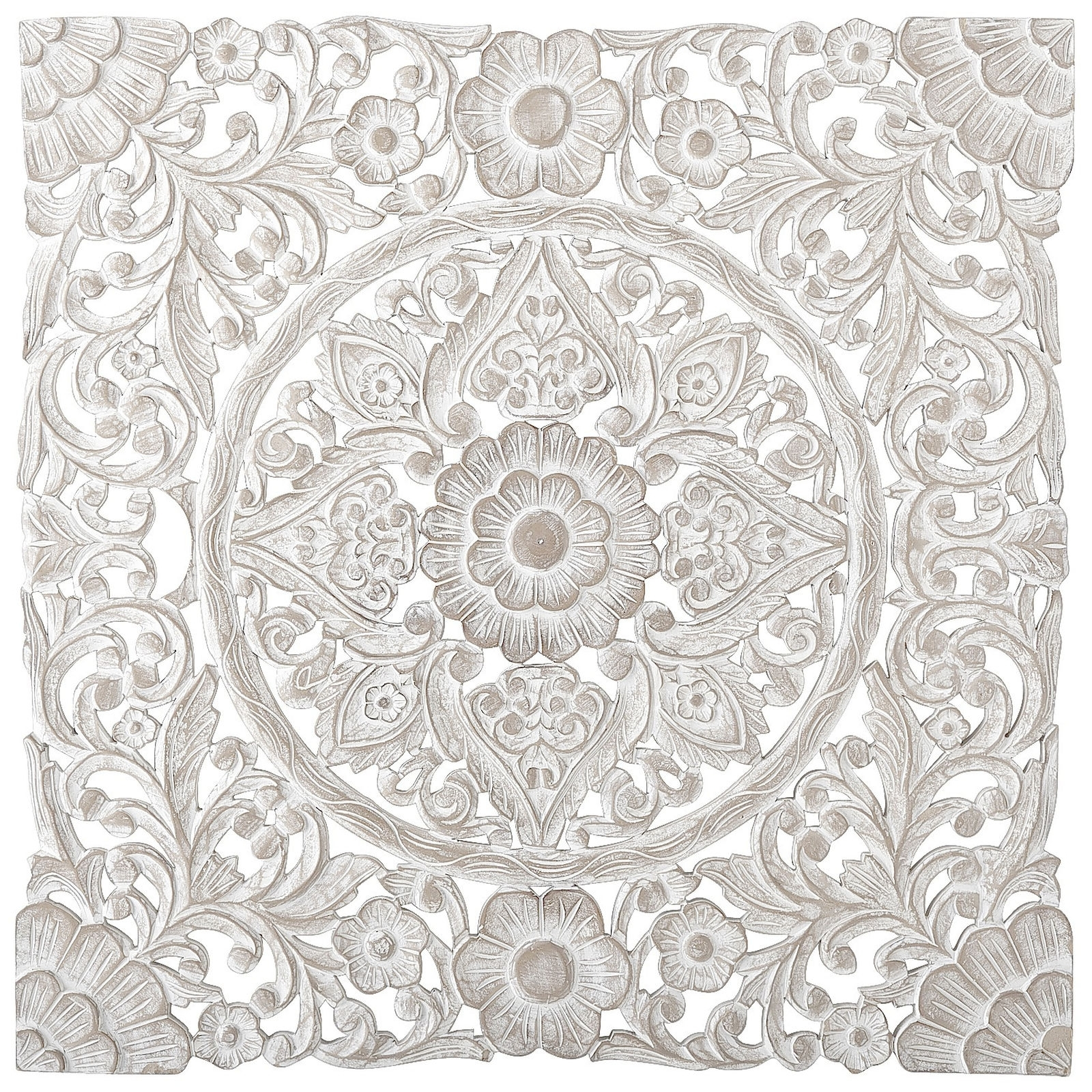 2018 This Dramatic Wall Panel Finished In Antique White Is Very Heavy Pertaining To Filigree Wall Art (View 7 of 15)