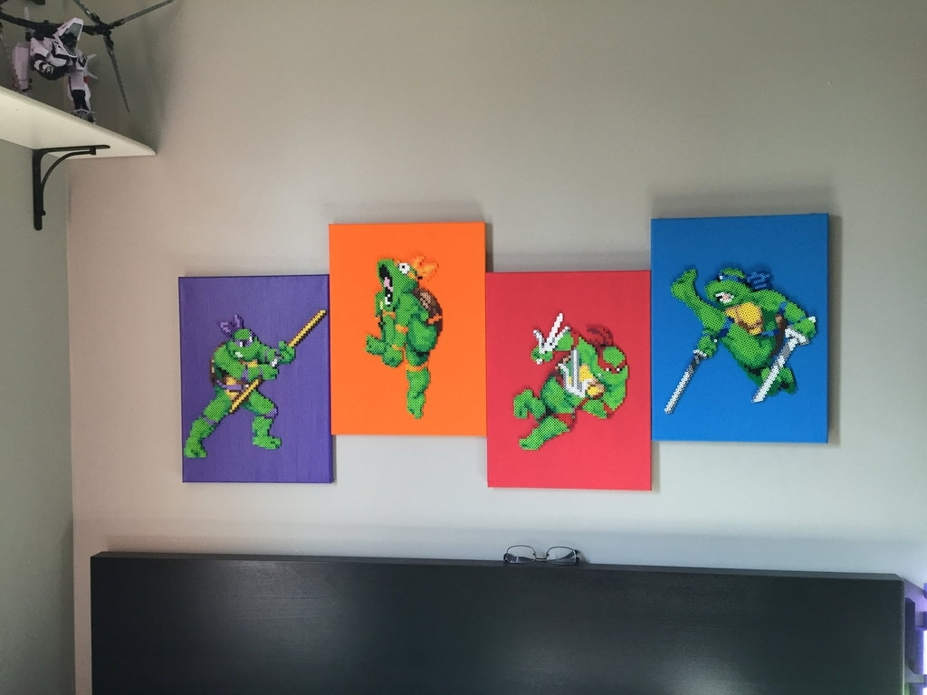 2018 Tmnt Perler Canvasrandomlolz1 On Deviantart Regarding Tmnt Wall Art (View 1 of 15)