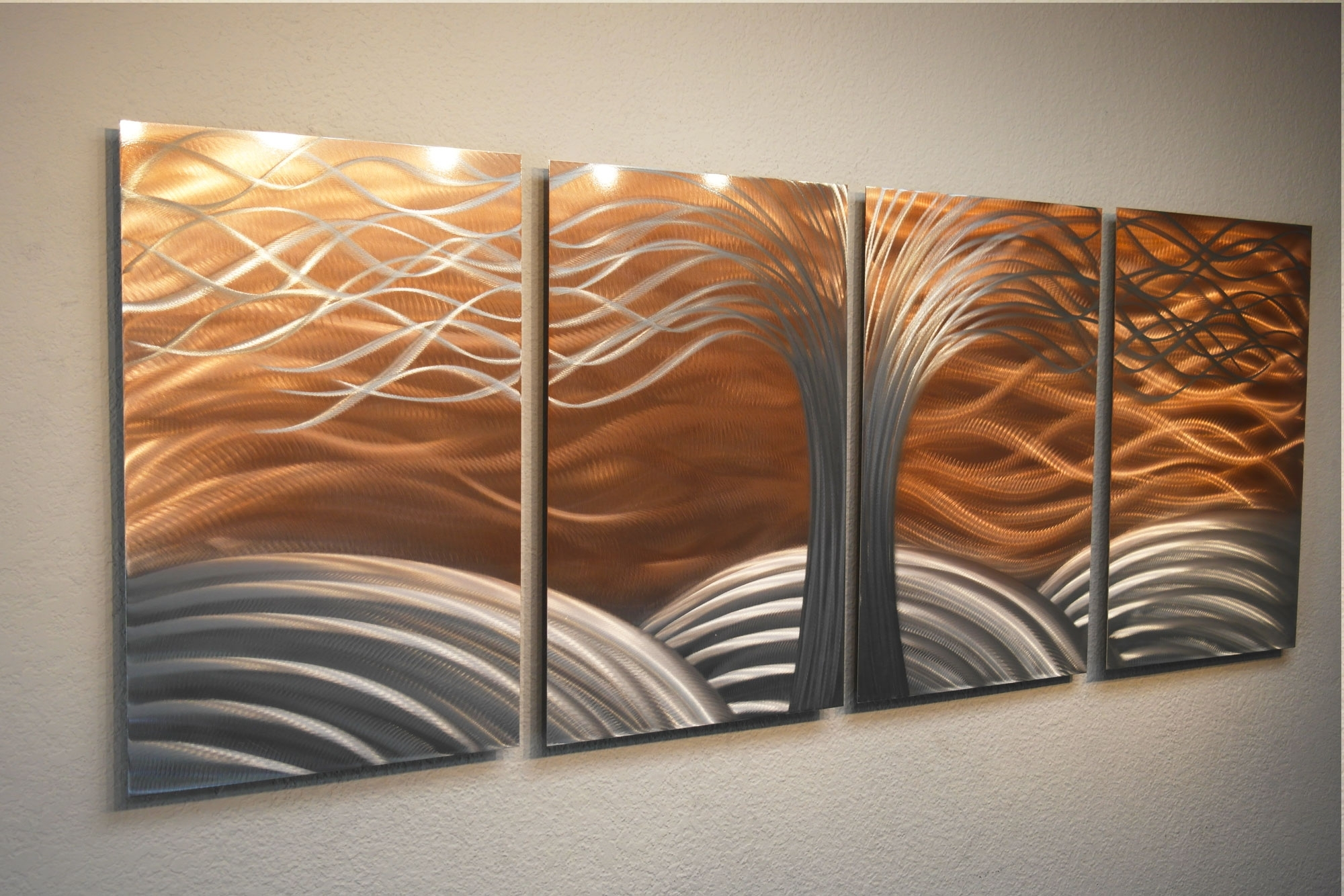 2018 Tree Of Life Bright Copper – Metal Wall Art Abstract Sculpture Within Abstract Copper Wall Art (View 2 of 15)