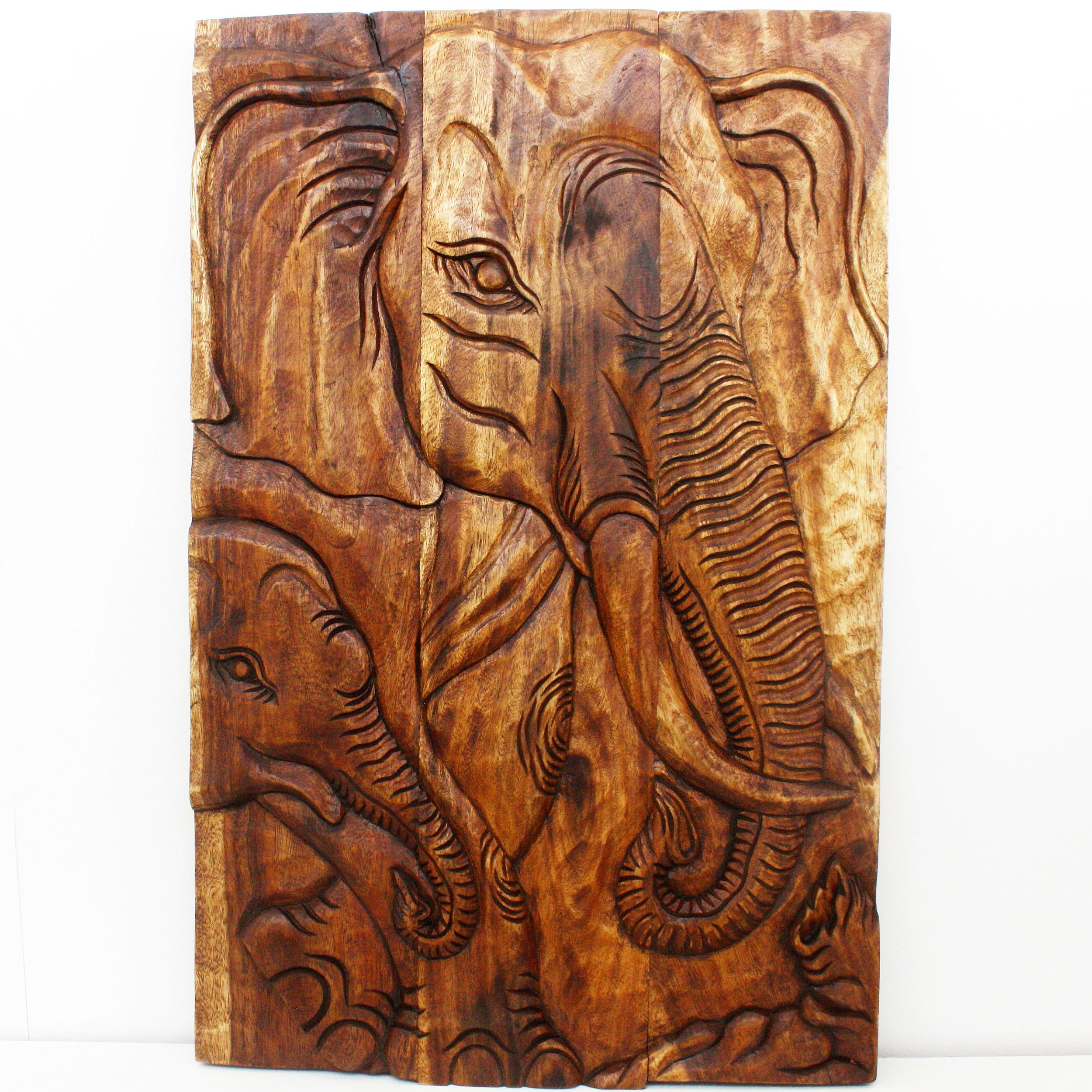 2018 Tree Of Life Wood Carving Wall Art With Regard To Wall Decor Thailand Wood Art Panels Nature Carvings (View 14 of 15)