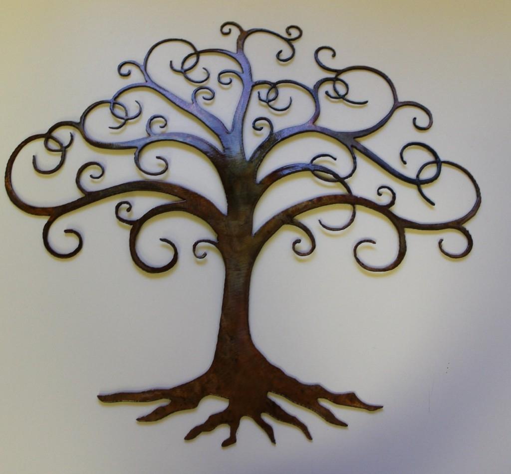 2018 Tree Wall Art Sculpture Regarding Charming Natural Tree Of Life Metal Wall Art Decor Sculpture 31 X (View 1 of 15)