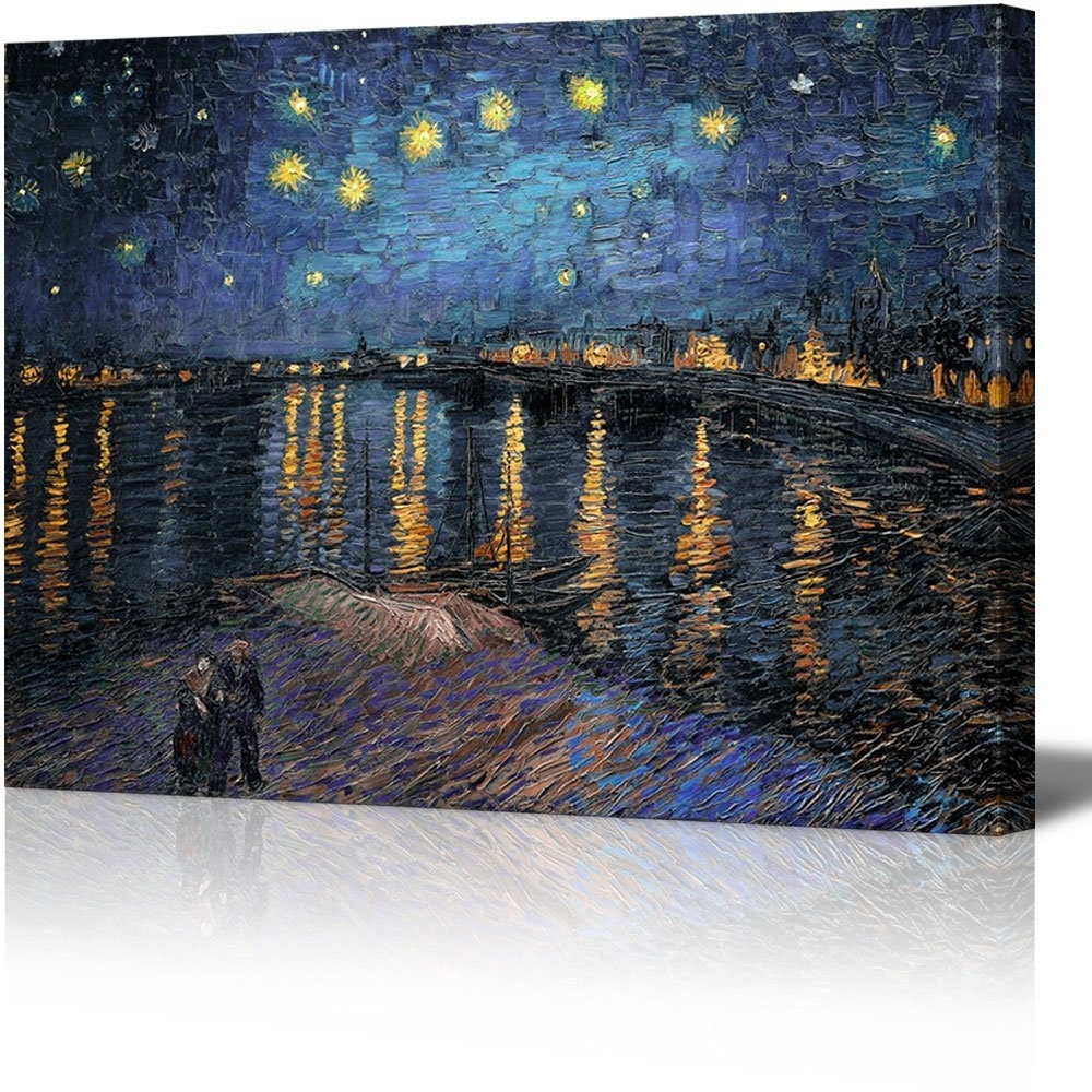 2018 Vincent Van Gogh Wall Art Regarding Amazon: Wall26 – Canvas Print Wall Art – Starry Night Over The (View 1 of 15)