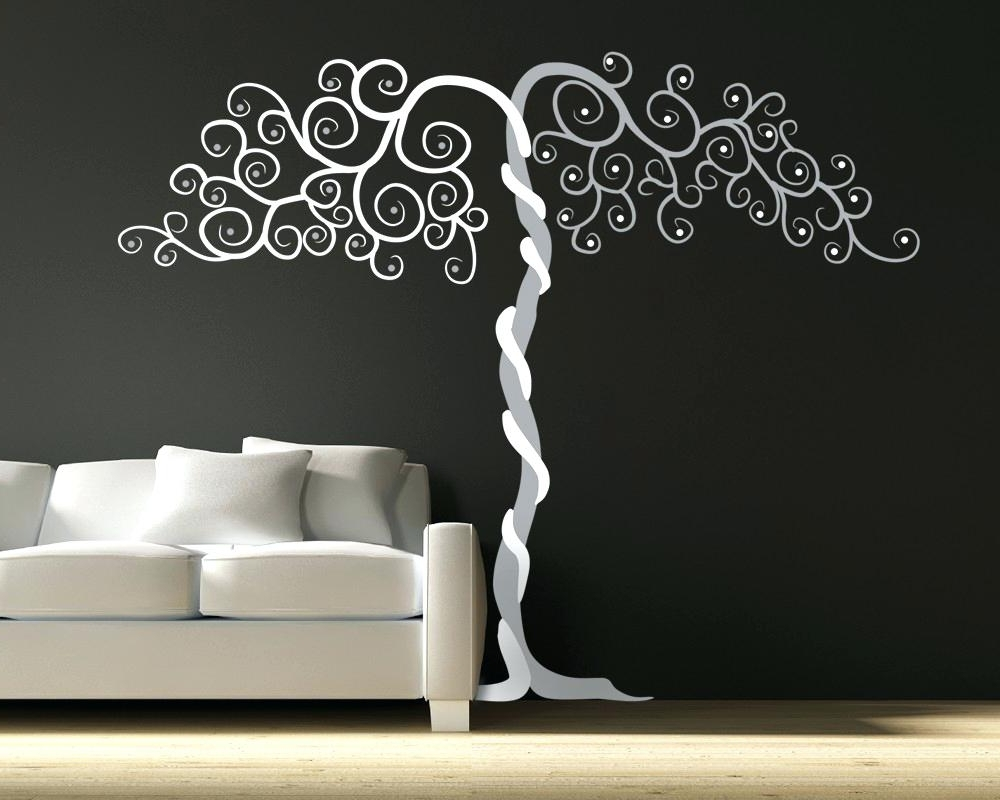 2018 Vinyl Wall Decals Trees Tree Wall Art Decals Tree Wall Decal Wall With Regard To Vinyl Wall Art Tree (View 8 of 15)