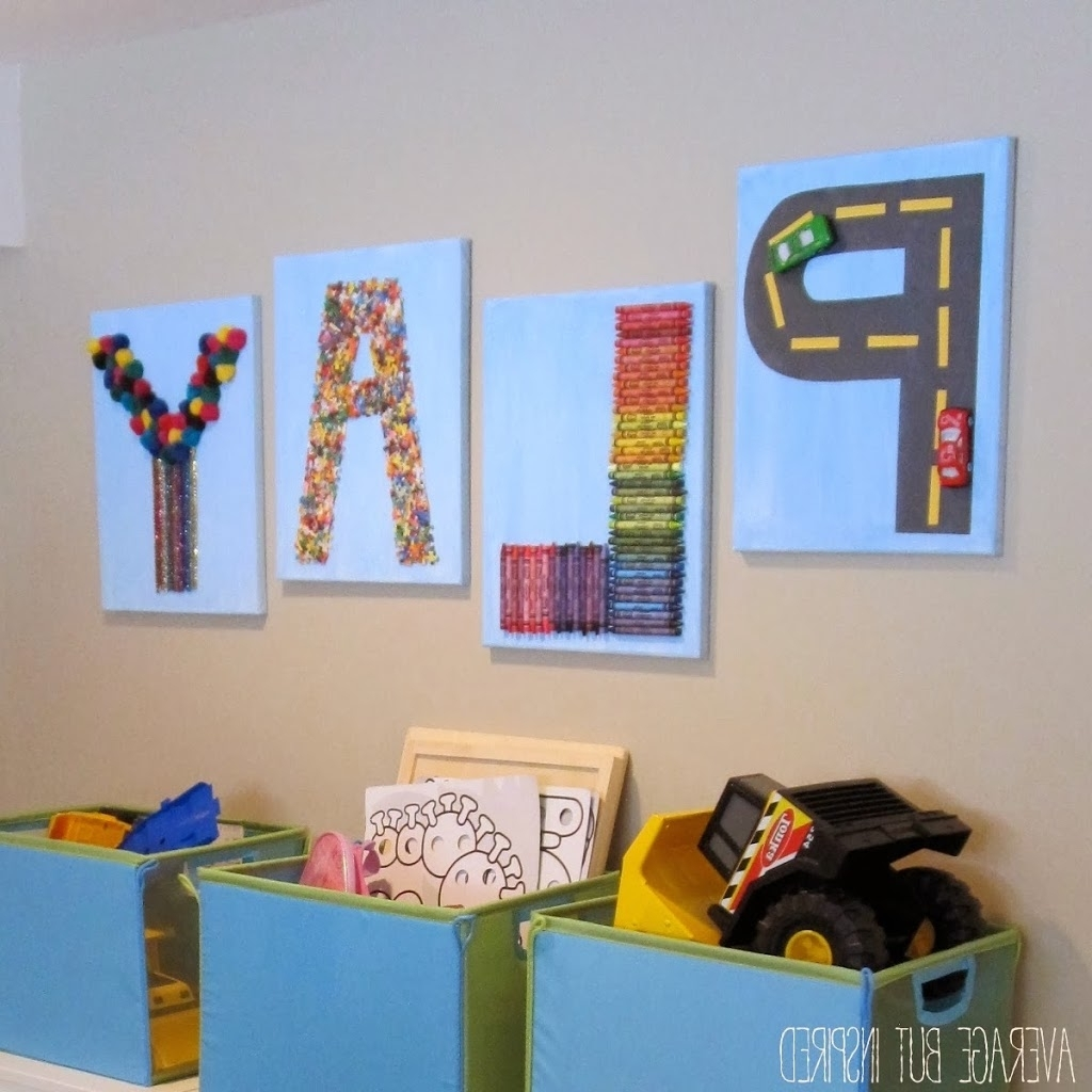 "2018 Wall Art For Playroom With Regard To Creative ""play"" Art For The Playroom – Average But Inspired (View 2 of 15)"