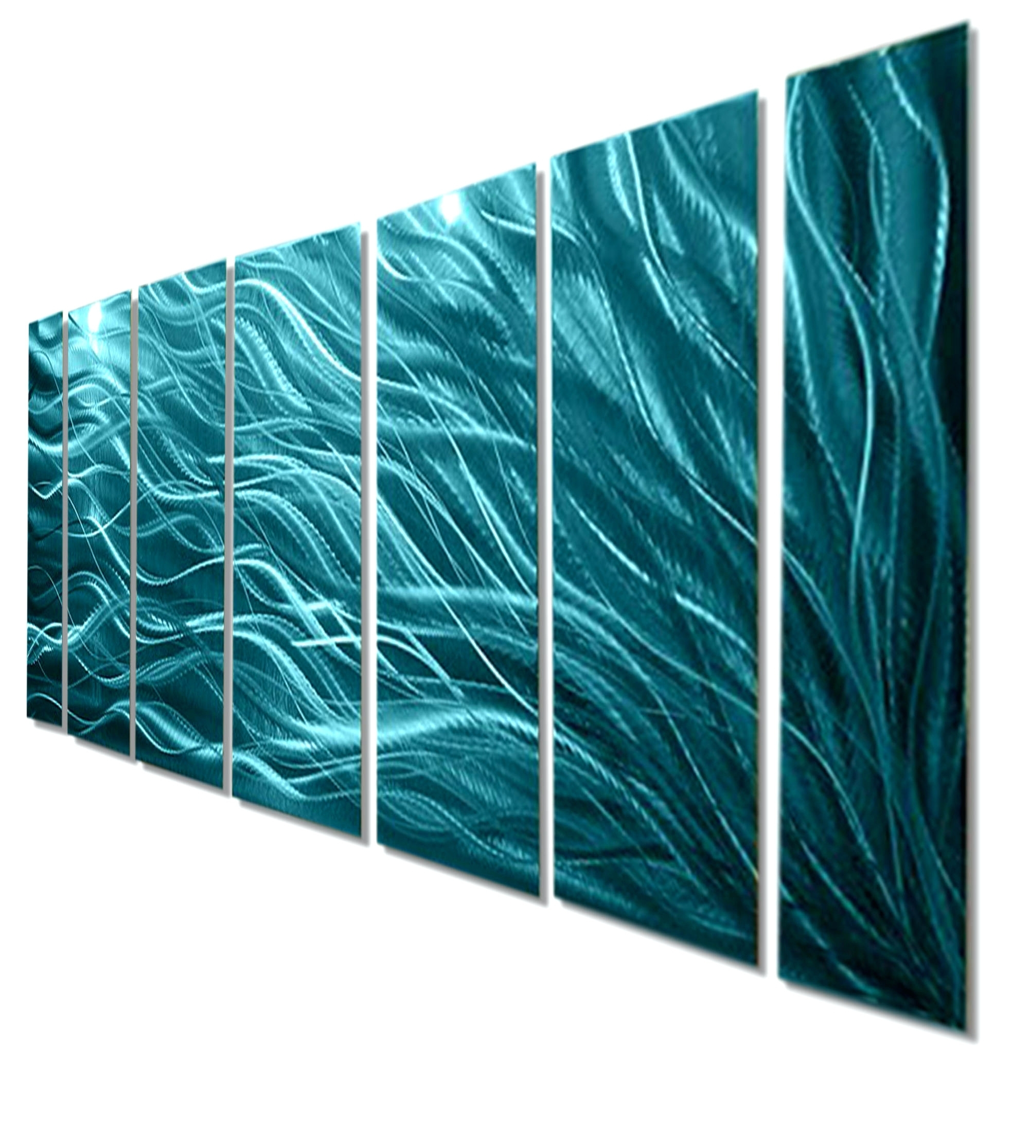 2018 Wall Arts ~ Blue Green And Brown Wall Art Home Decor 5 Piece In Blue And Green Wall Art (View 1 of 15)