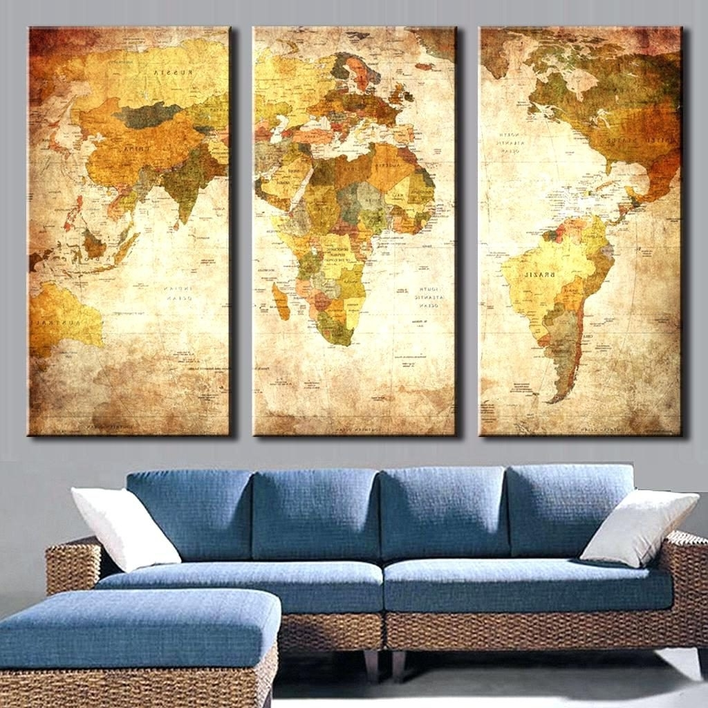 The best framed world map wall art 2018 wall arts glamorous world map wall decor world map wall art wood throughout framed gumiabroncs
