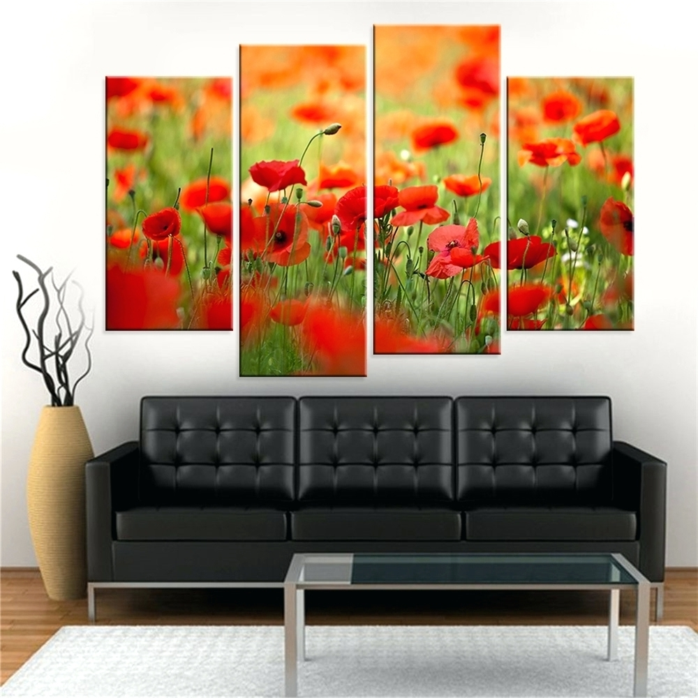 2018 Wall Arts ~ Poppy Wall Art In Yellow Red Metal Poppy Wall Art Throughout Metal Poppy Wall Art (View 14 of 15)
