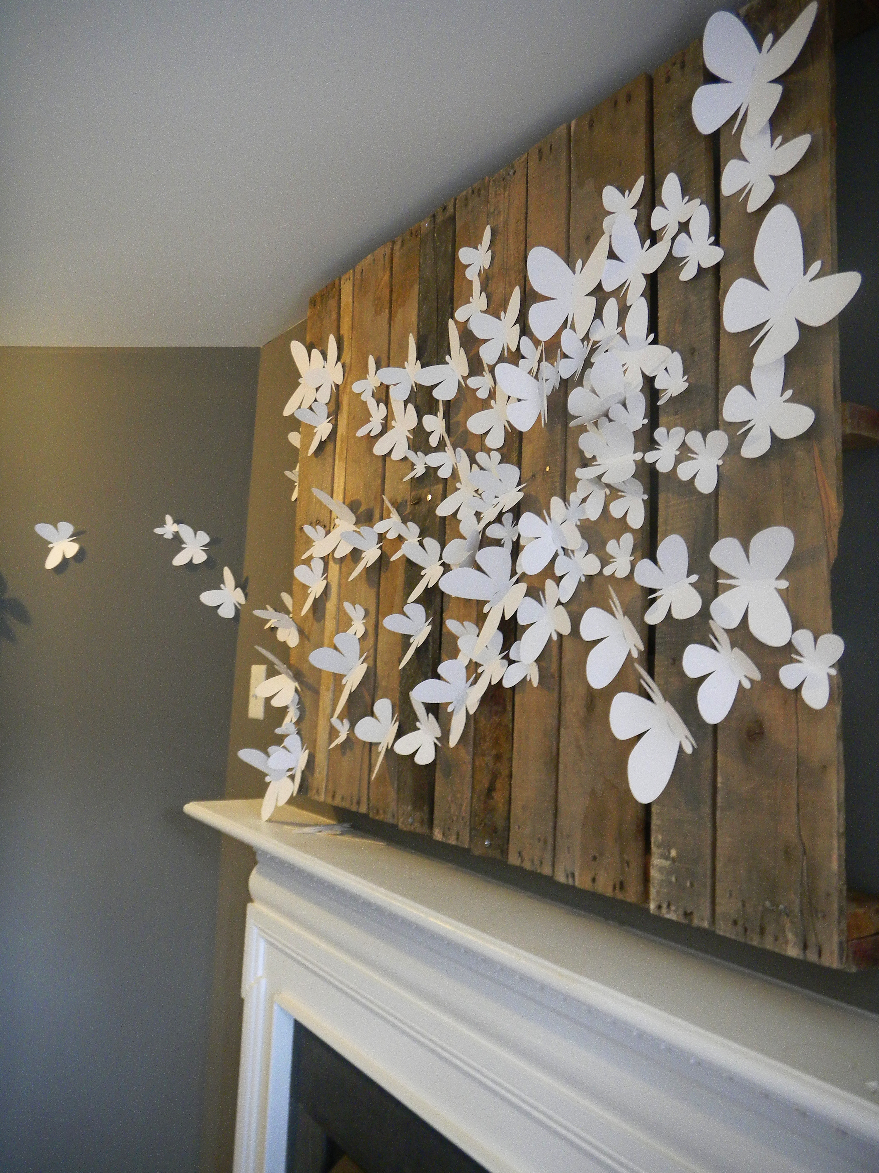 2018 White Metal Butterfly Wall Art With Regard To White Metal Butterfly Wall Decor • Walls Decor (View 1 of 15)