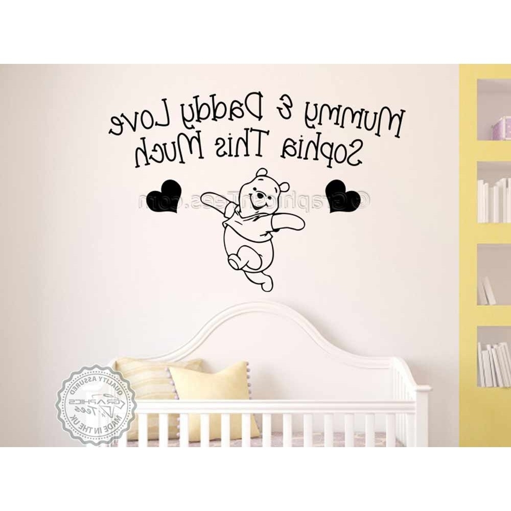 2018 Winnie The Pooh Wall Decor Pertaining To Personalised Nursery Wall Sticker, Winnie The Pooh Bedroom Wall (View 2 of 15)