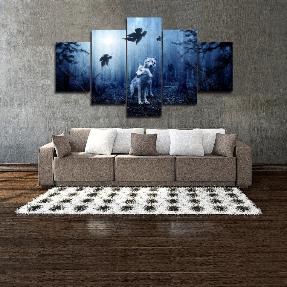 2018 Wolf 3D Wall Art Pertaining To Homey Ideas Wolf Wall Art Stickers Decal Of Street Article Canvas (View 1 of 15)