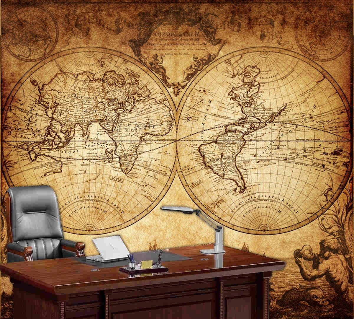 15 Photos Old World Map Wall Art
