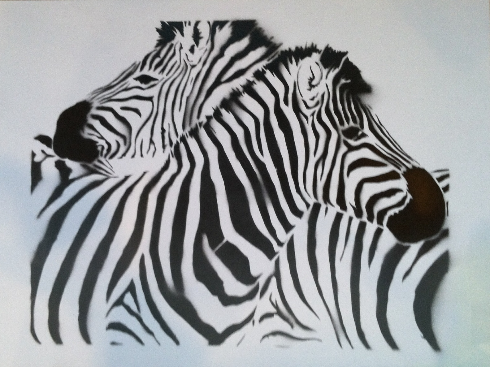2018 Zebra Stencil Wall – Google Search (View 2 of 15)