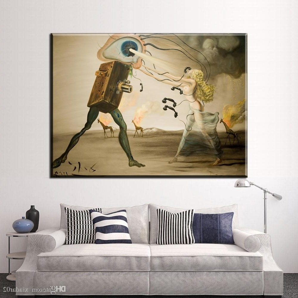 2018 Zz2051 Salvador Dali Still Life Fast Moving Canvas Painting Pertaining To Popular Salvador Dali Wall Art (View 4 of 15)