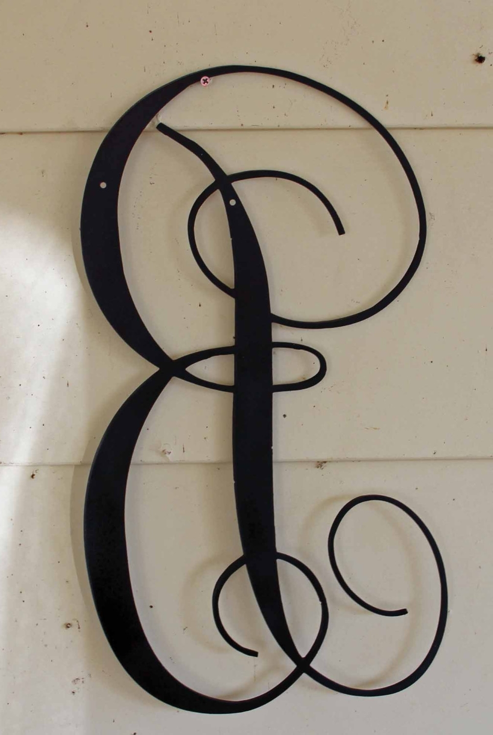 22 Inch Black Script Metal Letter B Door Or Wall Hanging Regarding Well Known Decorative Metal Letters Wall Art (View 1 of 15)