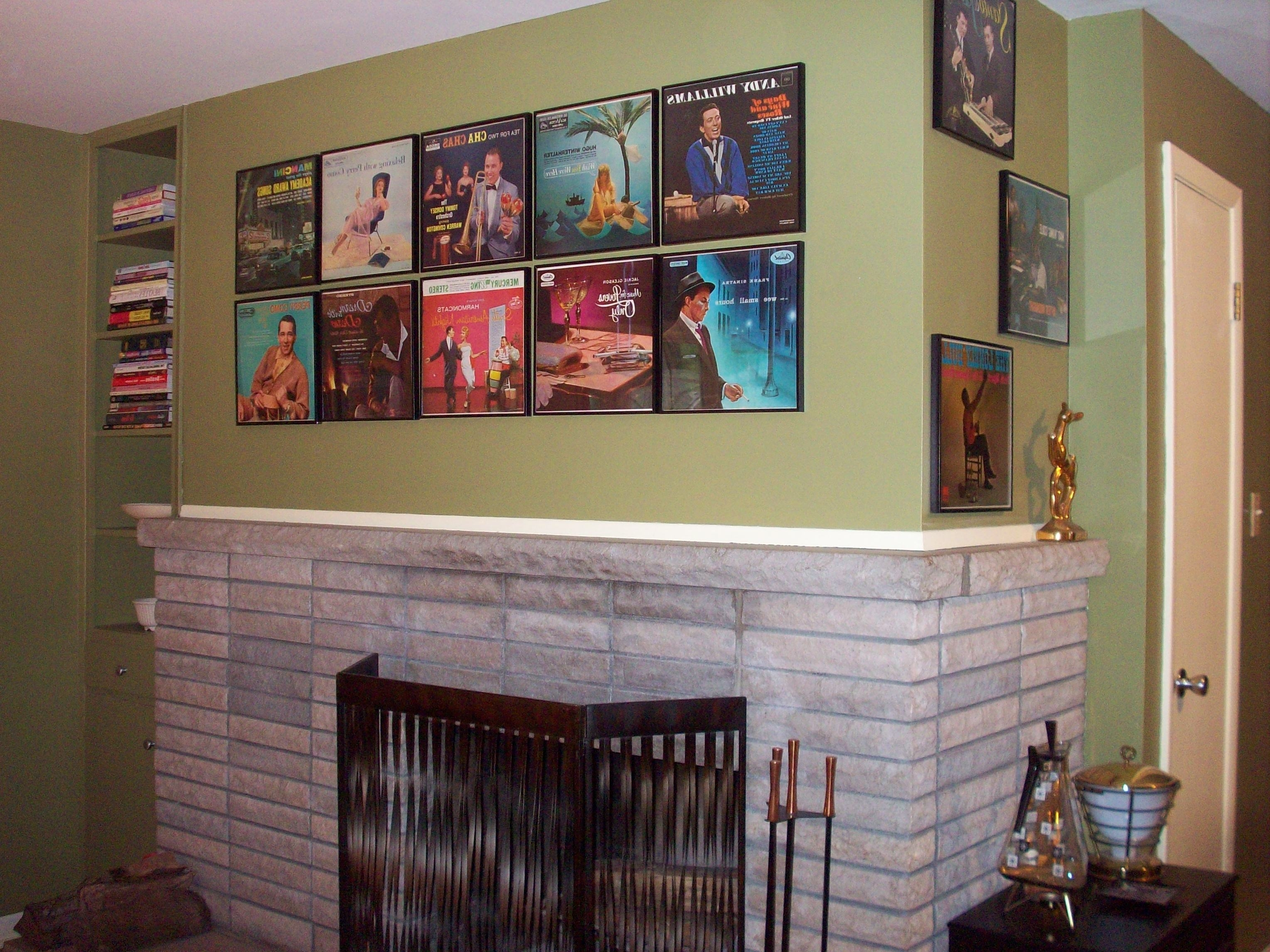 249 Photos Of The Vintage Art And Wall Decor In Readers' Homes Regarding Favorite Album Cover Wall Art (View 1 of 15)