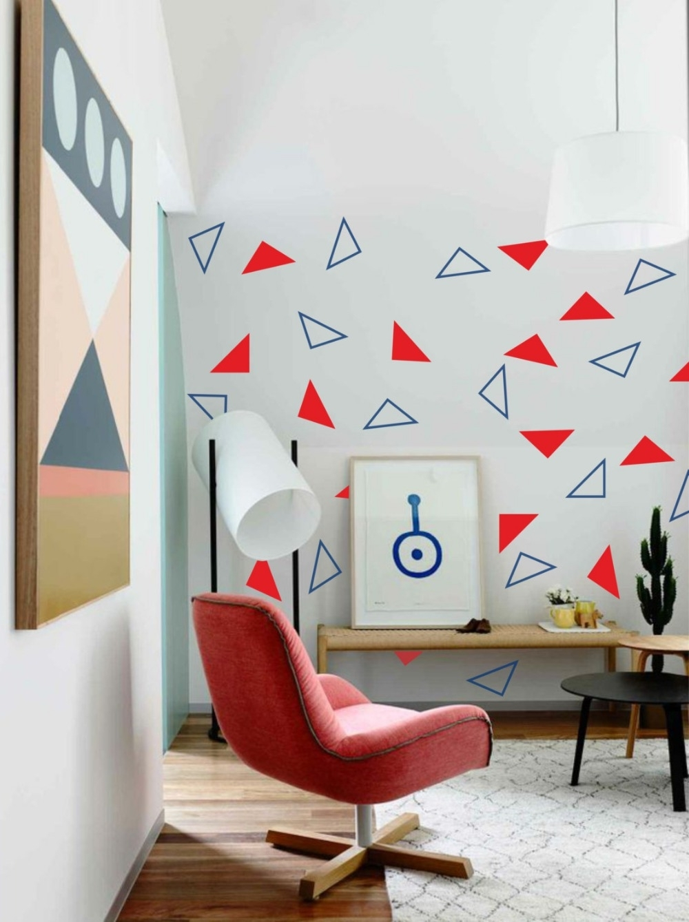 24Pcs(Solid And Hollow) Triangles Abstract Geometric Wall Sticker Pertaining To Most Up To Date Abstract Art Wall Decal (View 1 of 15)