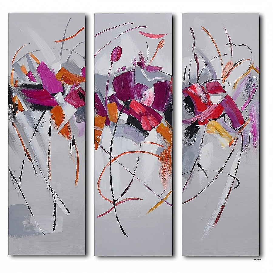 3 Pc Canvas Wall Art Lovely Mud D Floral March 3 Piece Canvas Wall Throughout Latest 3 Piece Floral Canvas Wall Art (Gallery 13 of 15)