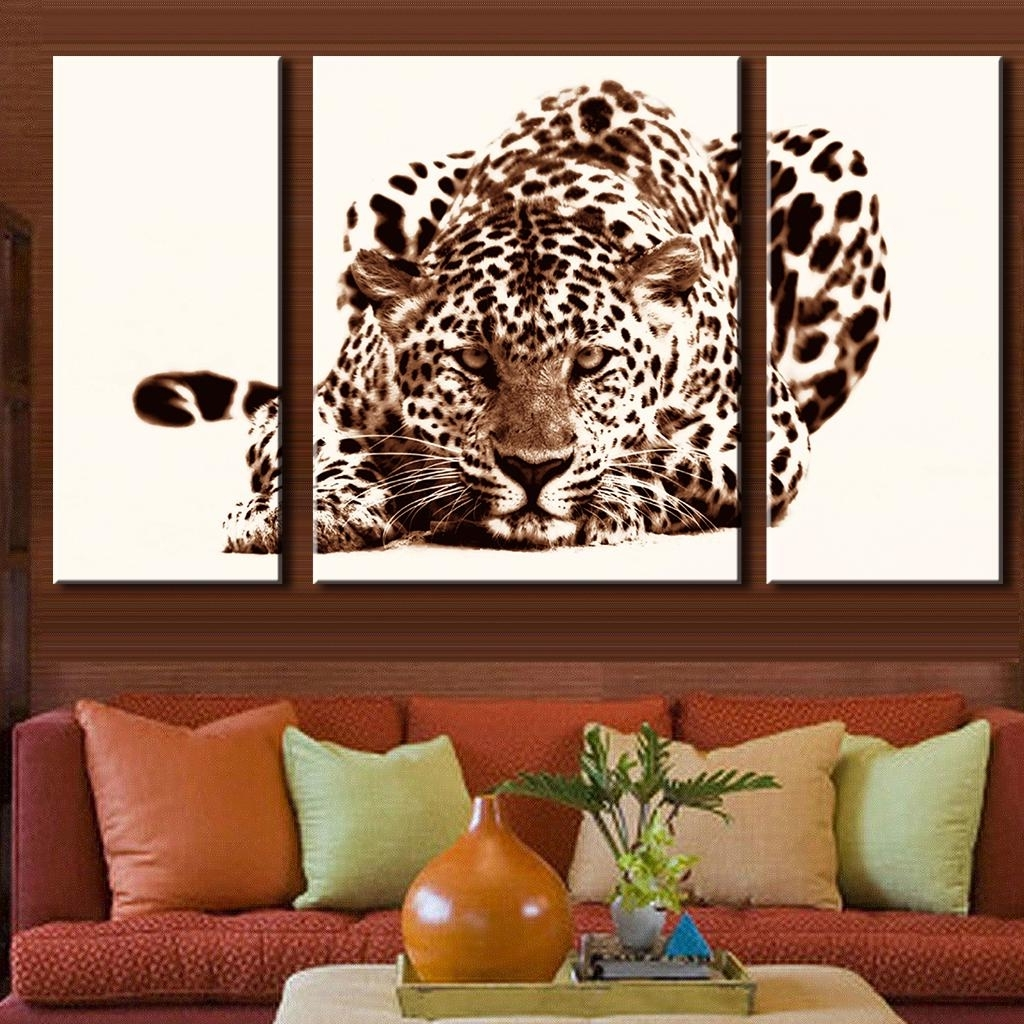 3 Pcs/set Office Decoration Modern Animal Leopard Prints Painting Intended For Fashionable Leopard Print Wall Art (Gallery 14 of 15)