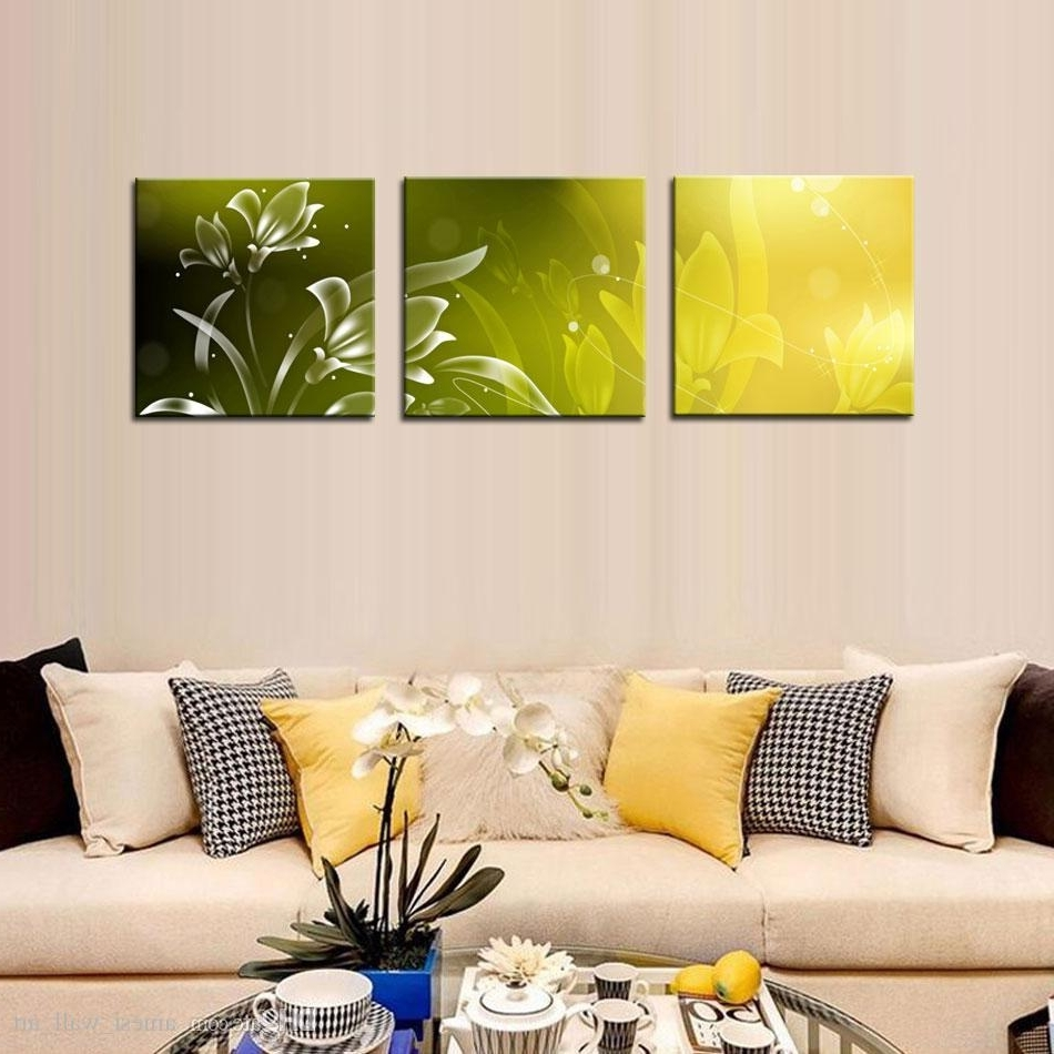 3 Piece Modern Wall Art Within Recent 2018 Modern Kitchen Canvas Paintings Charming Beautiful Flower (View 11 of 15)