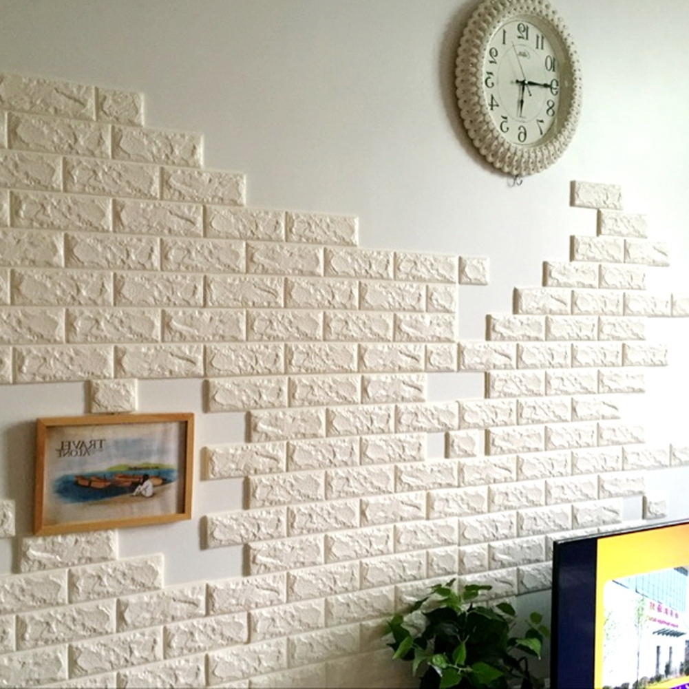 3D Brick Wall Art In 2018 Pe Foam Stickers Patterns Diy Decor