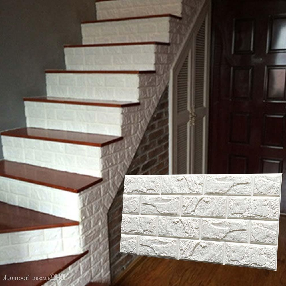 3D Brick Wall Art In Most Up To Date Pe Foam 3D Diy Stone Brick Wall Stickers Home Decor Poster (View 3 of 15)