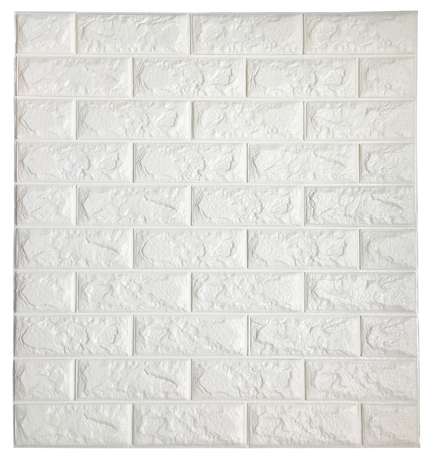 3D Brick Wall Art Pertaining To Popular Peel & Stick 3D Wall Panels White 3D Brick Wallpaper, 2.6' X  (View 5 of 15)