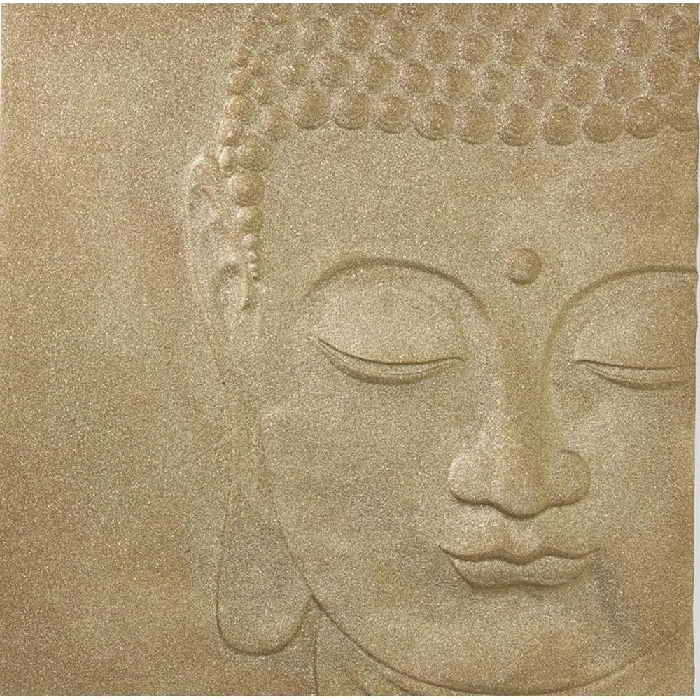 3D Buddha Wall Art Within Current Glitterati Buddha 3D Wall Art Gold 60 X 60Cm At Wilko (Gallery 3 of 15)