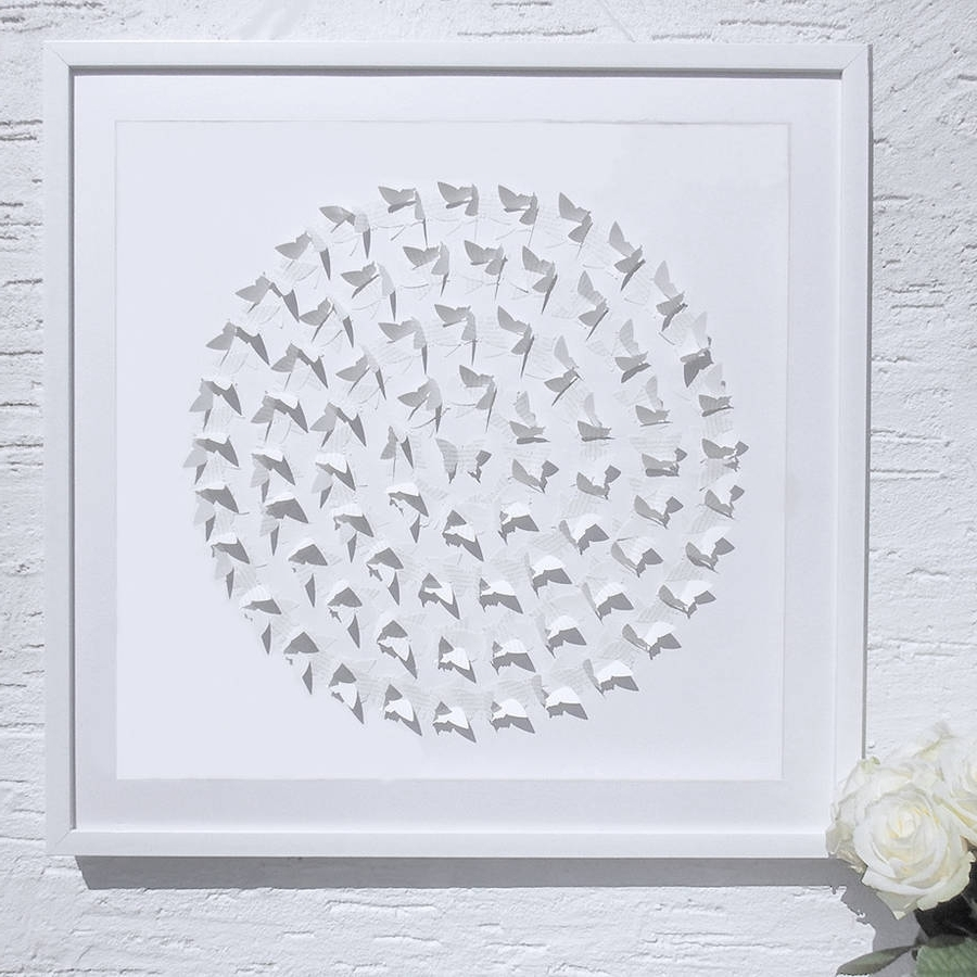 3D Butterfly Framed Wall Art In Popular Framed 3D 'circle Of Life' Butterfly Artworkdaisy Maison (View 3 of 15)